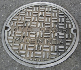 nyc made in india manhole cover